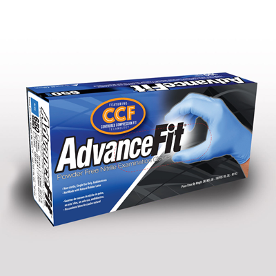 """Picture of AdvanceFit Blue - 9.5"""" Long Cuff, 5 Mil"""